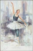 Darcey Bussell in Rehearsal - a Watercolour print by Gordon King