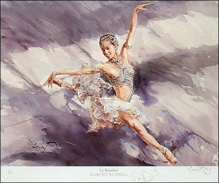 Darcey Bussell - La Bayadere - a Watercolour print by Gordon King