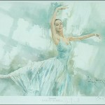 Darcey Bussell serenade Watercolour print