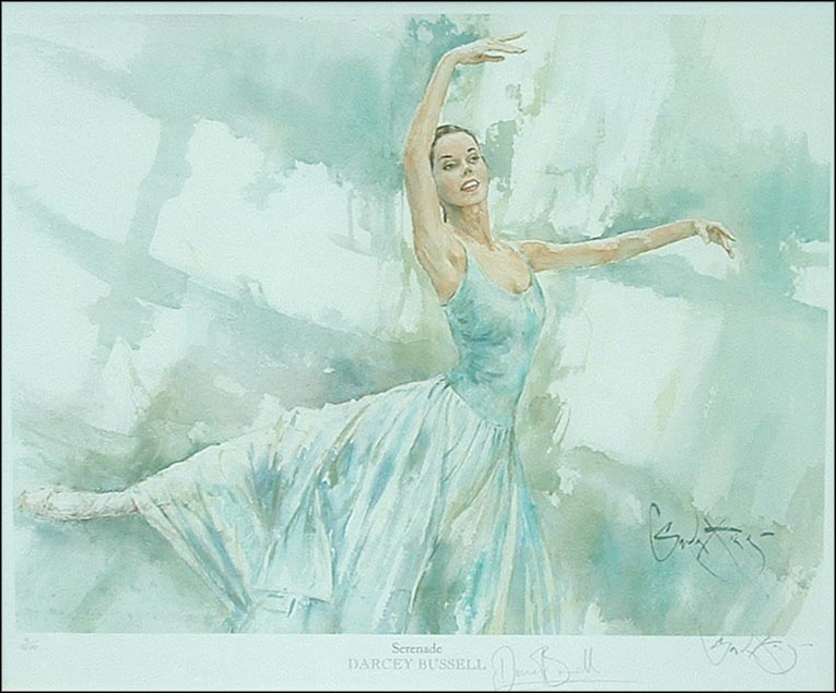 Darcey Bussell serenade - a Watercolour print by Gordon King - click here to order